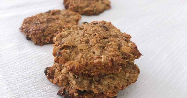 cookies à la banane et au chocolat noir